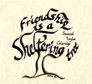 Friendship Is A 492 Delias Designs Hand Painted Calligraphy